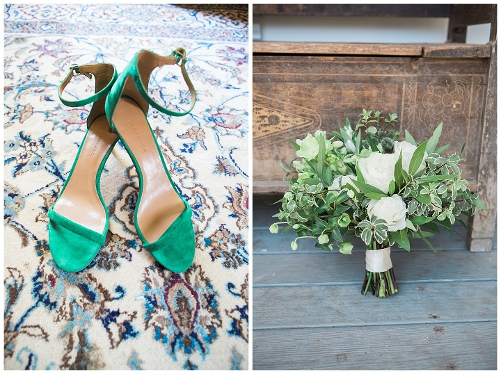 bride shoes and bridal bouquet triple s ranch napa wedding